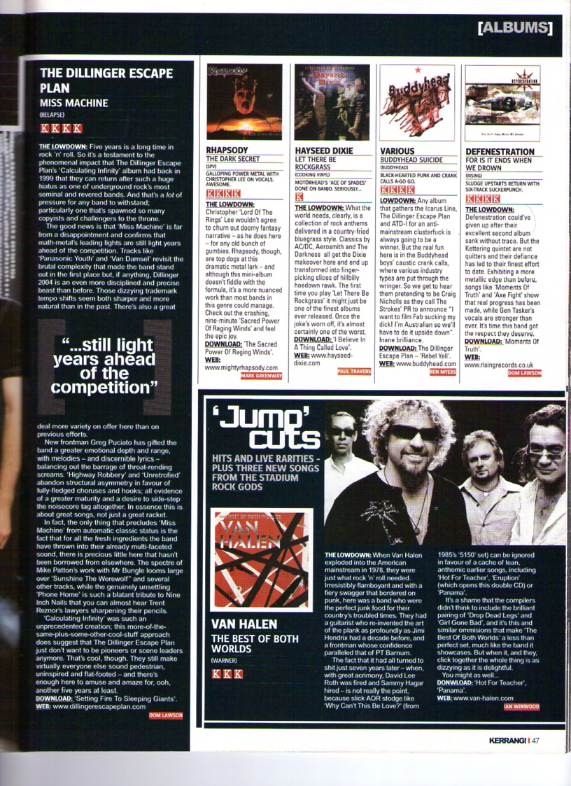 Buddyhead Suicide Kerrang Review