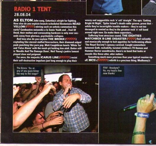The Icarus Line at Reading Festival 2004